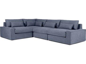 Trent modulares Sofa (Recamiere links), Blau