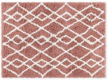 Fes grosse Badematte (70 x 100 cm) aus 100 % Baumwolle, Rosa