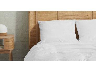 2 x Zana Kopfkissenbezuege (80 x 80 cm) aus 100 % Bio-Baumwolle, Weiss