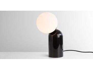 Vetro Tischlampe, Schwarz und Milchglas