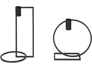2 x Suki Kerzenhalter, Schwarz