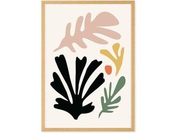 Abstract Cut Out Shapes gerahmter Kunstdruck (A1), Mehrfarbig