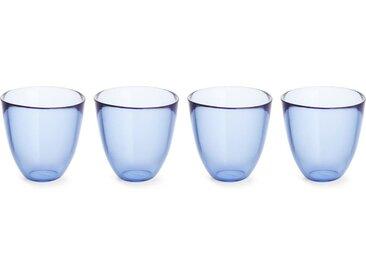 Thales 4 x Tumbler-Glaeser, Blau