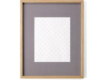 Portland Bilderrahmen 40 x 50 cm, Eiche mit grauem Passepartout (23.9 x 29.5 cm)