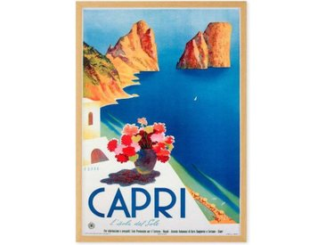 Capri Vintage Travel Framed A1 Wall Art Print, Multi