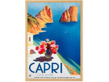 Capri Vintage Travel Framed A1 Wall Art Print, Multi