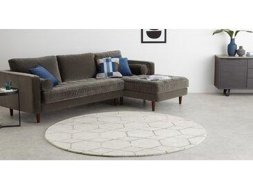 Lien runder Teppich (200 cm), Taupe