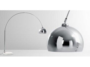 Bow Bogenlampe, Chrom und Marmor