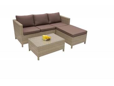 Loungegruppe modular aus Polyrattan SAM MARINO 4