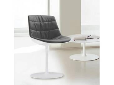 MDF Italia FLOW Stuhl mit Mittelfuß B:530 H:805 T:540 mm weiß glanz/weiß/grau F052176C006R063F006S006