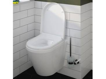 VitrA Integra Wand-Tiefspül-WC Compact VitrAflush 2.0 L: 49,5 B: 35,5 cm mit Bidetfunktion weiß, mit VitrAclean 7040B403-0090