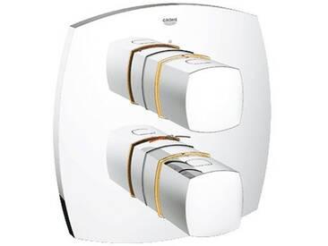 Grohe Grandera Thermostat-Brausebatterie Fertigmontageset chrom/gold 19934IG0
