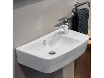 VitrA Shift Waschtisch Compact B: 60 T: 34,5 cm asymmetrisch weiß, geschliffen 7071B003-0921