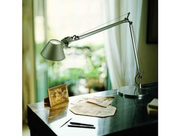 Artemide Tolomeo Tavolo LED Tischleuchte mit Tischfuß u. Dimmer H: 64,5-129 cm, aluminium A004800+A004030, EEK: A+