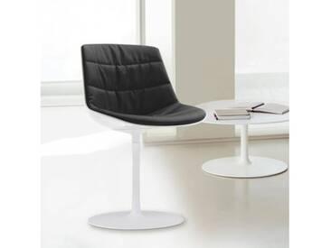 MDF Italia FLOW Stuhl mit Mittelfuß B:530 H:805 T:540 mm weiß glanz/weiß/dunkelgrau F052176C006R062F006S006
