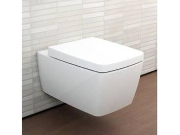 VitrA Metropole Wand-Tiefspül-WC VitrAflush L: 56 B: 36 cm weiß mit VitrAclean 7672B403-0075