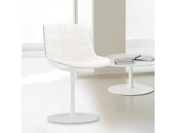 MDF Italia FLOW Stuhl mit Mittelfuß B:530 H:805 T:540 mm weiß glanz/weiß/cremeweiß F052176C006R058F006S006