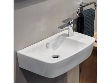 VitrA Shift Waschtisch Compact B: 60 T: 34,5 cm asymmetrisch weiß, mit VitrAclean, geschliffen 7071B403-0921