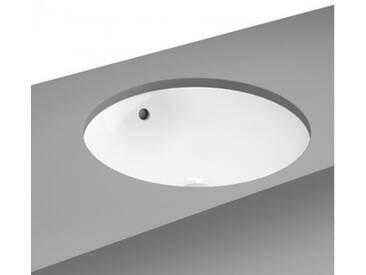VitrA Metropole Unterbauwaschtisch, rund mit Überlauf B: 40 T: 40 cm weiß mit VitrAclean 5940B403-1082