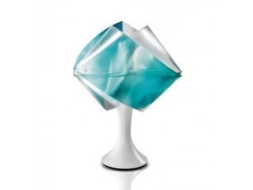 Slamp GEMMY PRISMA Tischleuchte Ø 22 H: 33 cm, weiß/blau GEM04TAV0001LCB, EEK: A++