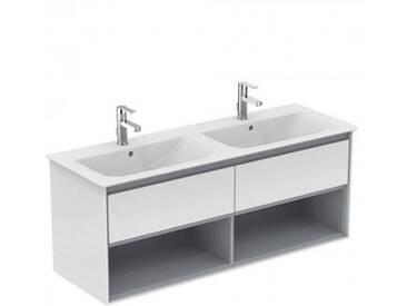 Ideal Standard Connect Air Möbeldoppelwaschtisch B: 134 T: 46 cm weiß, mit Ideal Plus E0272MA