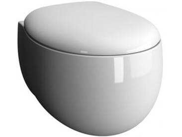 VitrA Memoria Black Wand-Tiefspül-WC VitrAflush 2.0 L: 54,5 B: 43 cm weiß, mit VitrAclean 5885B403-0101