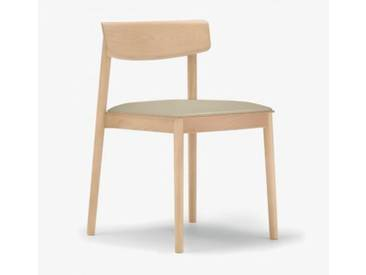 Andreu World Smart Stuhl mit Sitzpolster B: 500 H: 760 T: 485 mm, eiche/creme SI-0611#310#1805