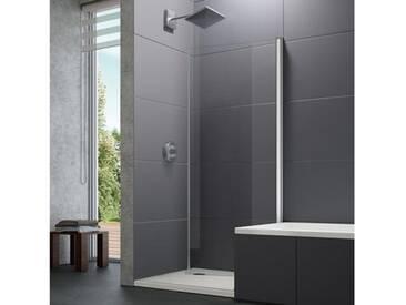Hüppe Design pure 4-Eck Bewegliche Seitenwand für Schwingtür B: 90 H: 190 cm ESG klar / chrom 8P7704092321