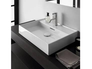 Kartell by Laufen Waschtisch B: 50 T: 46 cm weiß, mit Hahnloch, ungeschliffen H8103320001041