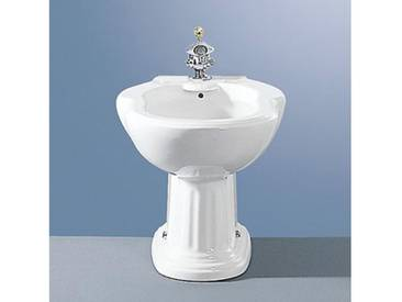 Jörger Leonardo Stand-Bidet L: 60 B: 40,5 H: 39,5 cm weiß mit 1 Hahnloch 10280010100