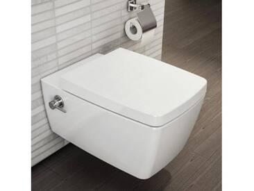 VitrA Metropole Wand-WC-Tiefspüler L: 56 B: 36 cm mit Bidetfunktion weiß, mit integrierter Thermostat-Armatur 5676B003-7211