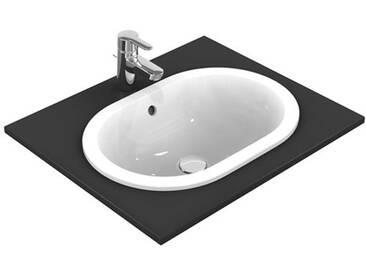 Ideal Standard Connect Einbauwaschtisch oval B: 48 T: 35 cm mit Ideal Plus E5045MA
