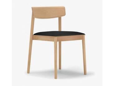 Andreu World Smart Stuhl mit Sitzpolster B: 500 H: 760 T: 485 mm, eiche/schwarz SI-0611#310#1824