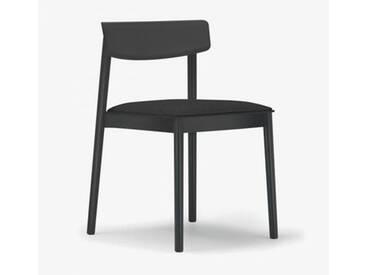 Andreu World Smart Stuhl mit Sitzpolster B: 500 H: 760 T: 485 mm, schwarz SI-0611#381#191