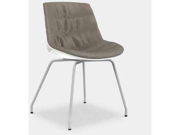 MDF Italia FLOW Stuhl mit Beinen B: 530 H: 805 T: 540 mm, weiß matt/weiß glanz/taupe F052171C006R304F006S007