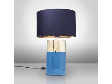 KARE Design Zelda Tischleuchte Ø 28 H: 78,5 cm, blau/gold, dunkelblau 60975, EEK: A