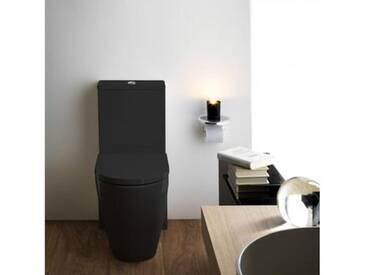 Kartell by Laufen Stand-Tiefspül-WC Kombination L: 66 B: 37 cm, spülrandlos schwarz glanz H8243310200001