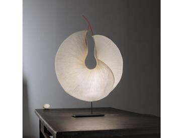 Ingo Maurer Yoruba Rose LED Tischleuchte B: 50 H: 60 T: 15 cm, natur 2922000, EEK: A+
