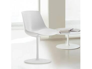 MDF Italia FLOW Stuhl mit Mittelfuß B: 530 H: 805 T: 540 mm, weiß glanz/weiß F052106F006S006