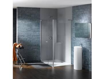 Hüppe Studio Paris Schwingtür mit Nebenteil und Seitenwand 70-120 cm ESG klar / chrom, Linksbefestigung PT0149C91322
