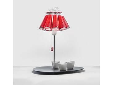 Ingo Maurer CAMPARI BAR Tischleuchte B: 39.6 H: 49 cm, schwarz/rot/transparent 1365000, EEK: A++