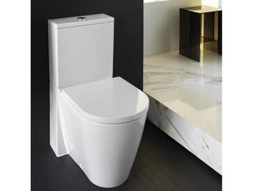Kartell by Laufen Stand-Tiefspül-WC Kombination L: 66 B: 37 cm, spülrandlos weiß H8243310000001