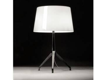 Foscarini Lumiere XXL Tischleuchte mit Dimmer Ø 37 H: 67 cm, chrom schwarz/weiß 191001C11, EEK: C