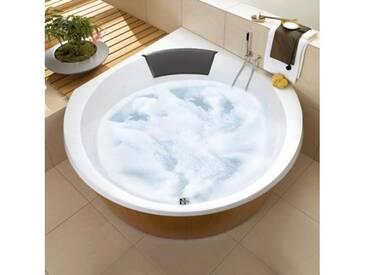Villeroy & Boch Luxxus Eck Badewanne mit Whirlpoolsystem L: 145 B: 145 cm starwhite mit HydroPool Comfort UHC145LUX3B2V96, EEK: A+