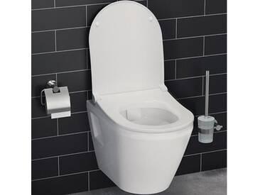 VitrA Integra Wand-Tiefspül-WC VitrAflush 2.0 L: 54 B: 35,5 cm weiß, mit VitrAclean 7062B403-0075