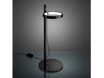 Artemide Ipparco LED Tischleuchte mit Dimmer, Ø 21 H: 50.8 cm, schwarz poliert 1607010A, EEK: A+