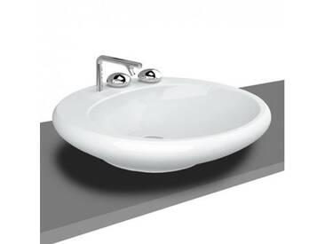 VitrA Istanbul Aufsatzwaschtisch B: 59 T: 60 cm, mit 3 Hahnlöchern weiß mit VitrAclean 4279B403-0871