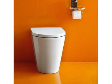 Kartell by Laufen Stand-Tiefspül-WC L: 56 B: 37 cm, spülrandlos weiß, mit Clean Coat H8233364000001