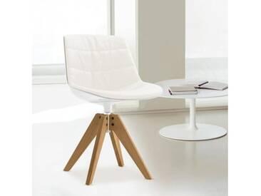 MDF Italia FLOW Stuhl mit Füßen B: 546 H: 805 T: 546 mm, eiche/weiß/cremeweiß F052188C006R058F006S042S007