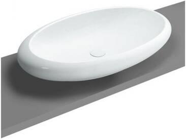 VitrA Istanbul Aufsatzwaschtisch B: 85,5 T: 51 cm weiß mit VitrAclean 4446B403-0016